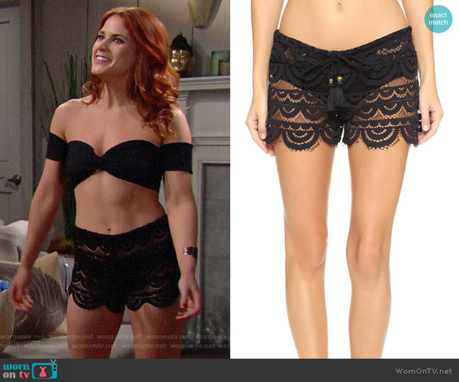 PilyQ Lexi Shorts worn by Courtney Hope on The Bold & the Beautiful