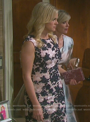 Belle's floral embroidered dress on Days of our Lives