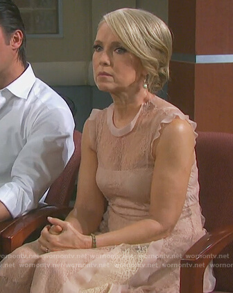 Jennifer's blush lace dress on Days of our Lives