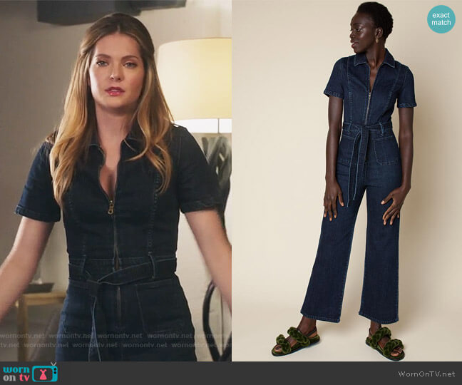 Sal Jumpsuit by Rachel Antonoff worn by Meghann Fahy on The Bold Type