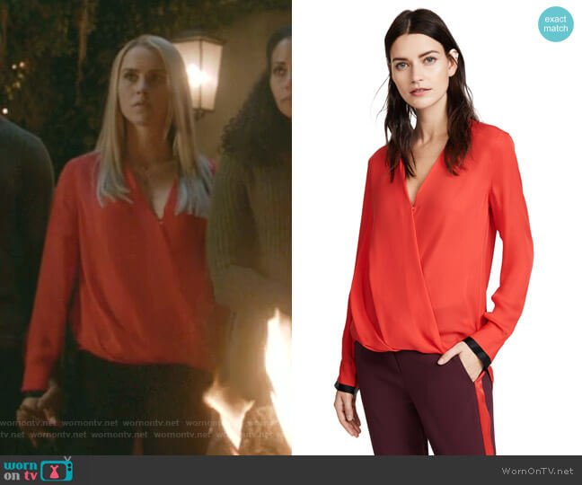 Victor Blouse by Rag & Bone worn by Rebekah (Claire Holt) on The Originals