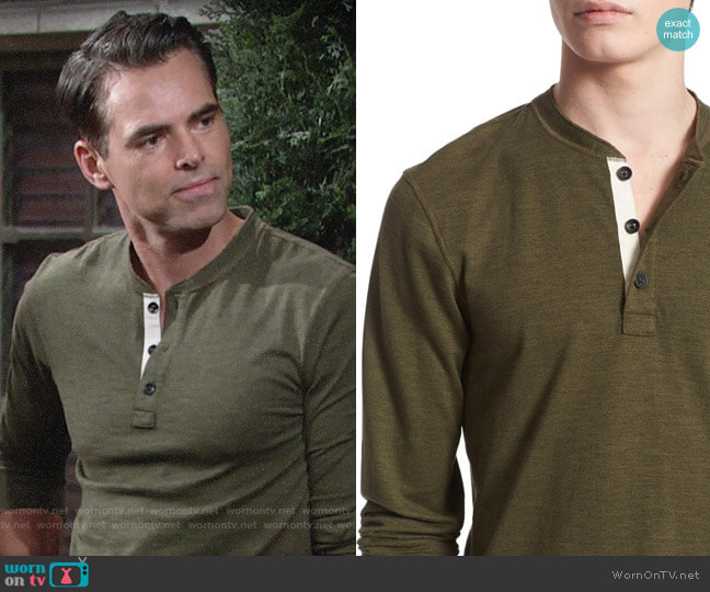 Rag and Bone Standard Issue Henley worn by Billy on The Young and the Restless