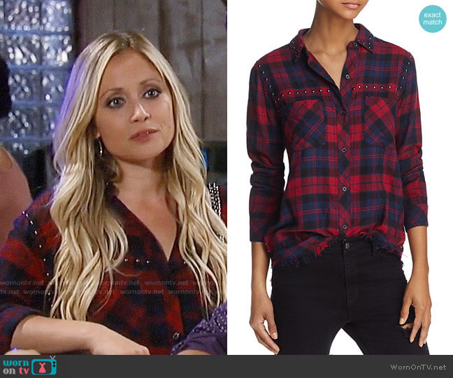 Rails Rex Studded Shirt worn by Emme Rylan on General Hospital