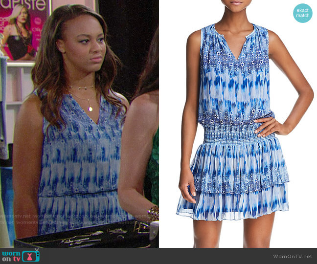 Ramy Brook Jordana Blouson Dress worn by Nia Sioux on The Bold & the Beautiful