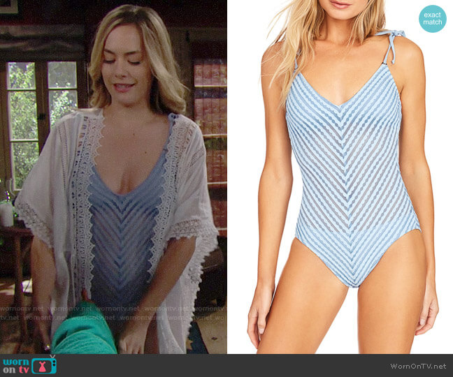 Robin Piccone Carly Swimsuit worn by Hope Logan (Annika Noelle) on The Bold & the Beautiful