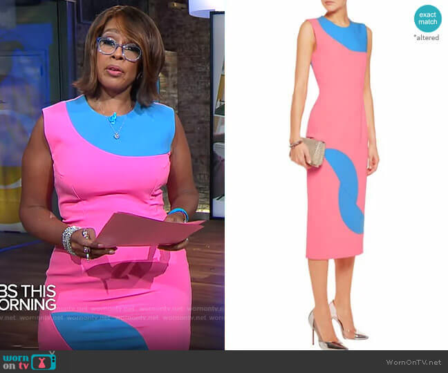 Roksanda Allerton Dress worn by Gayle King  on CBS Mornings