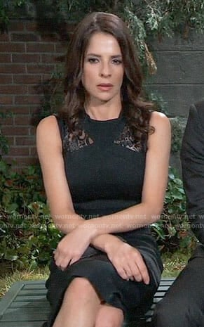 Sam's black lace inset dress on General Hospital