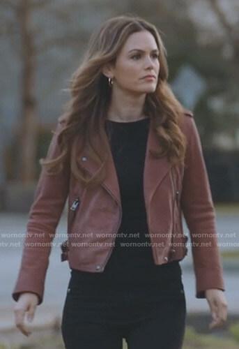 Sam's red moto jacket on Take Two