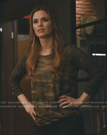 Sam's camo top on Take Two