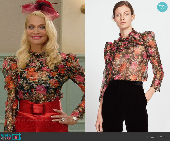 Sandro Amina Top worn by Lavinia Peck-Foster (Kristin Chenoweth) on Trial & Error
