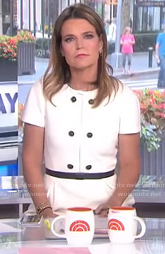 Savannah's white button detail dress on Today