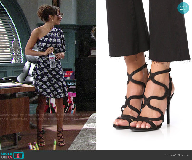 Schutz Lacie Sandals worn by Lily Winters (Christel Khalil) on The Young & the Restless