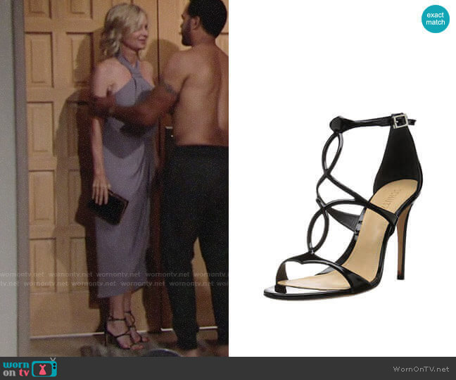 Schutz Rania Sandals worn by Ashley Abbott (Eileen Davidson) on The Young & the Restless
