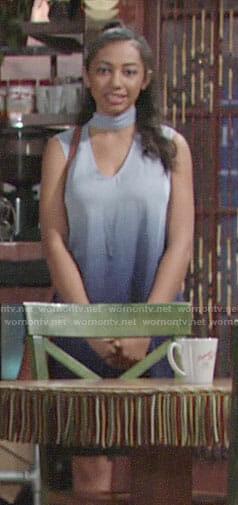Shauna's blue ombre dress on The Young and the Restless