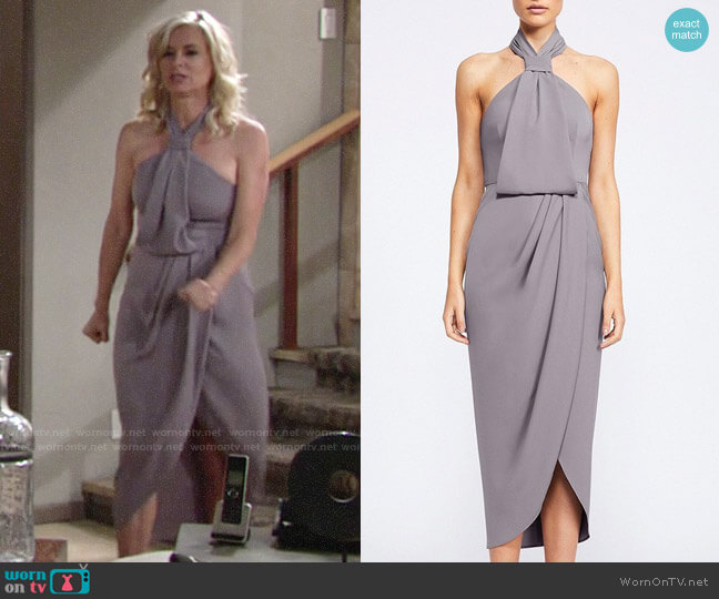 Shona Joy Core Knot Draped Dress worn by Ashley Abbott (Eileen Davidson) on The Young & the Restless