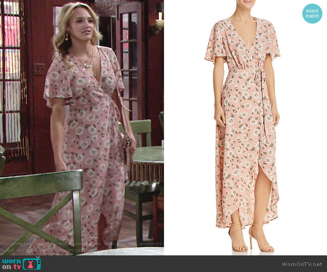 Show Me Your Mumu Marianne Maxi Wrap Dress worn by Hunter King on The Young & the Restless