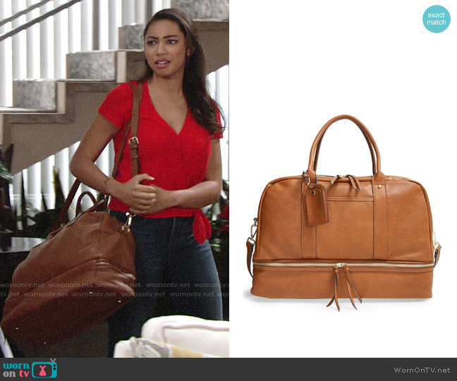 Sole Society Mason Weekender Bag worn by Camryn Hamm on The Young & the Restless