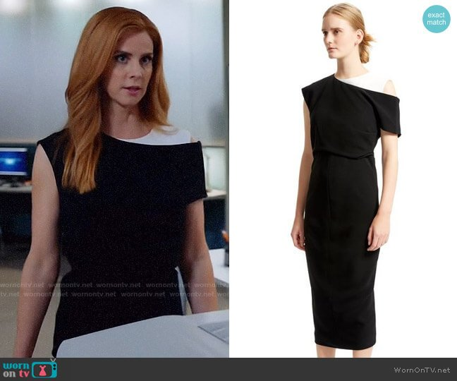 Sportmax Graphic Fitted Dress worn by Donna Paulsen (Sarah Rafferty) on Suits