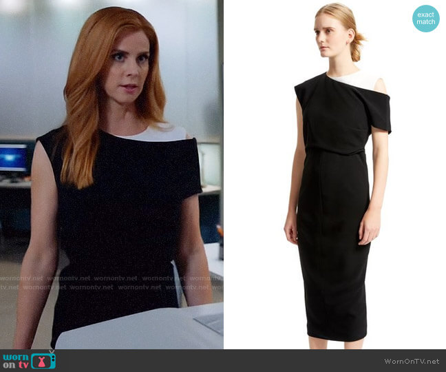 Sportmax Graphic Fitted Dress worn by Sarah Rafferty on Suits