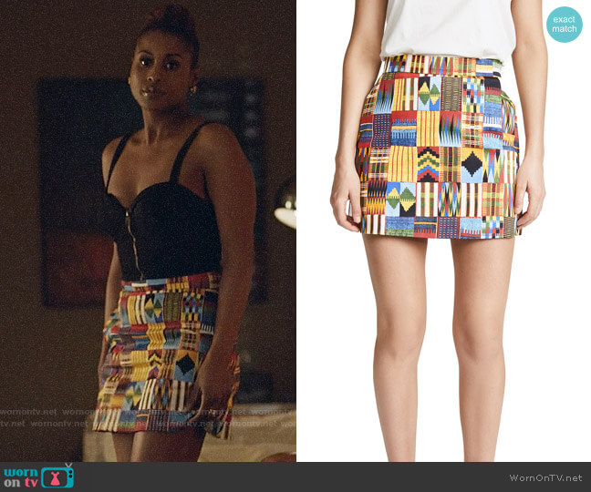 Stella Jean Macro Kente Skirt worn by Issa Rae on Insecure