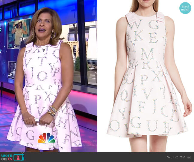 Zowey Dress by Ted Baker worn by Hoda Kotb on Today