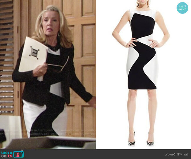 Theia Wavy Sheath Dress worn by Melody Thomas-Scott on The Young & the Restless
