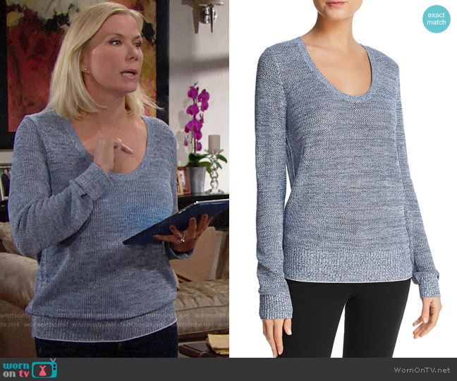 Theory Scoop Neck Sweater worn by Katherine Kelly Lang on The Bold & the Beautiful