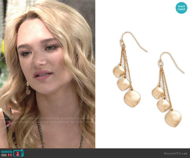 Treasure & Bond Petal Drop Earrings worn by Summer Newman (Hunter King) on The Young & the Restless