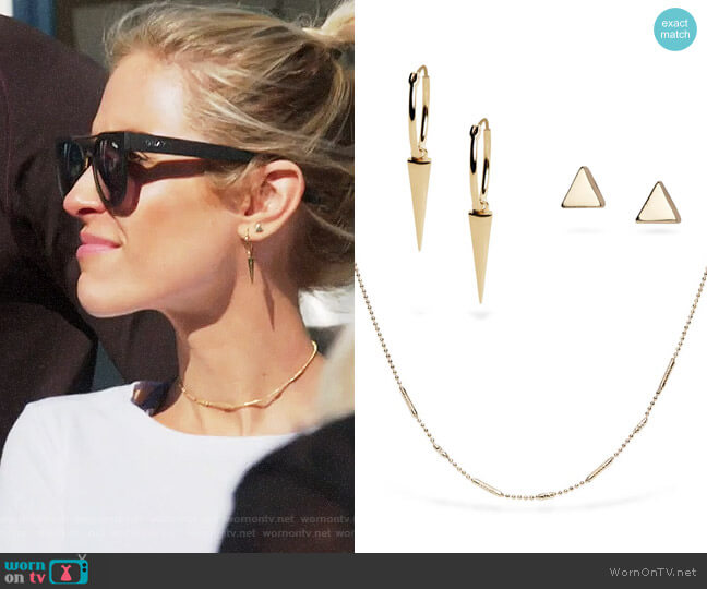 Uncommon James Ready to Mingle Necklace Sharp Shooter and Dalisay Earrings worn by Kristin Cavallari (Kristin Cavallari) on Very Cavallari