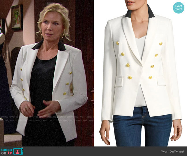 Veronica Beard Jack Blazer worn by Brooke Logan (Katherine Kelly Lang) on The Bold & the Beautiful