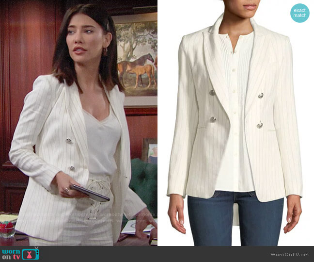 Veronica Beard Apollo Blazer worn by Steffy Forrester (Jacqueline MacInnes Wood) on The Bold & the Beautiful