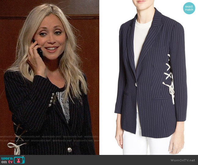 Veronica Beard Taylor Jacket worn by Emme Rylan on General Hospital