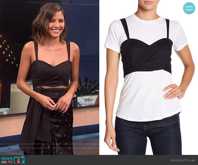 Bralette Back Tie Tee by Wayf worn by Erin Lim  on E! News