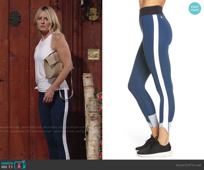Zella Great Heights Vision High Waist Midi Leggings worn by Sharon Case on The Young & the Restless