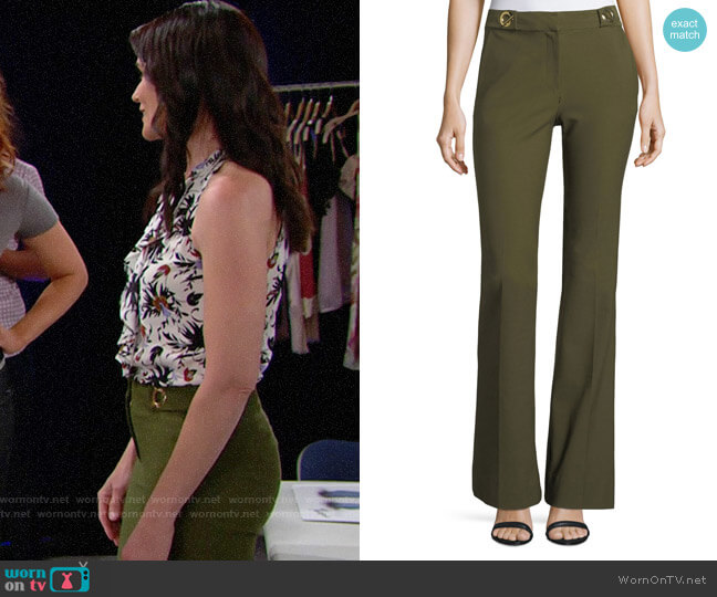 10 Crosby by Derek Lam Flared Trousers with Grommet Details worn by Quinn Fuller (Rena Sofer) on The Bold & the Beautiful