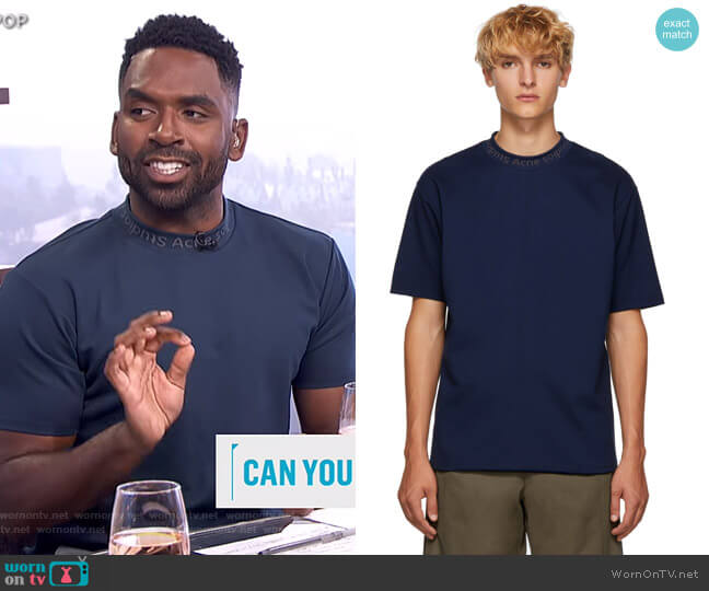 Navid Jersey T-Shirt by Acne Studios worn by Justin Sylvester  on E! News