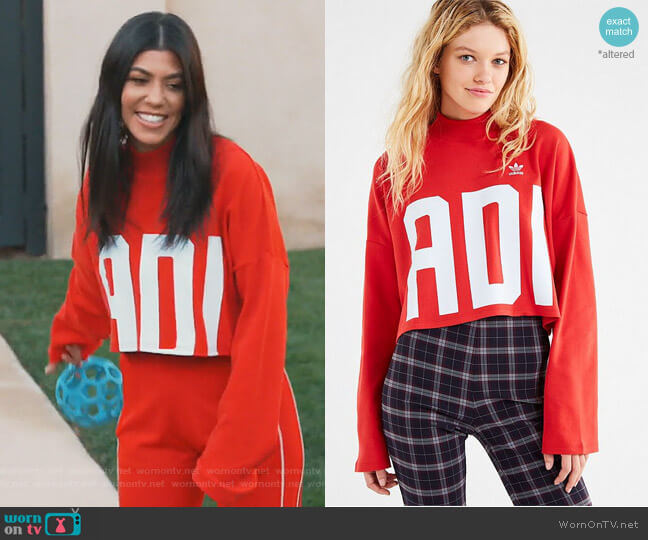 Bold Age Mock-Neck Cropped Top by Adidas worn by Kourtney Kardashian  on Keeping Up with the Kardashians