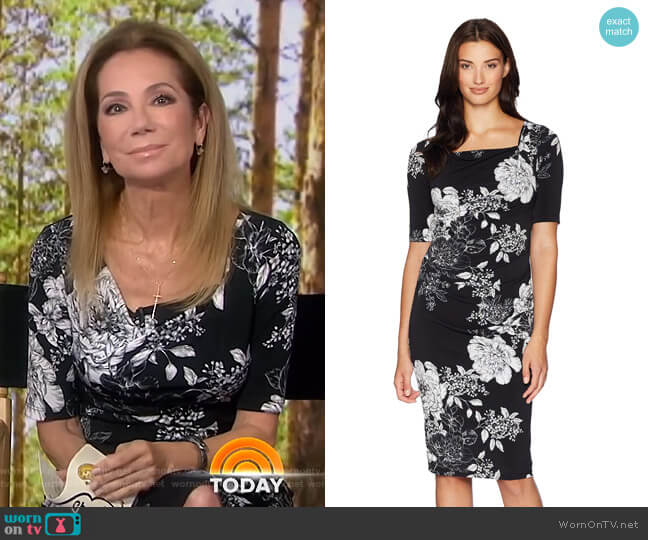 Vintage Garden Cowl Sheath Dress by Adrianna Papell  worn by Kathie Lee Gifford on Today