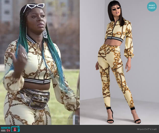 Playing in Chains Cropped Jacket and Legging by Akira worn by Ta'Rhonda Jones on Empire