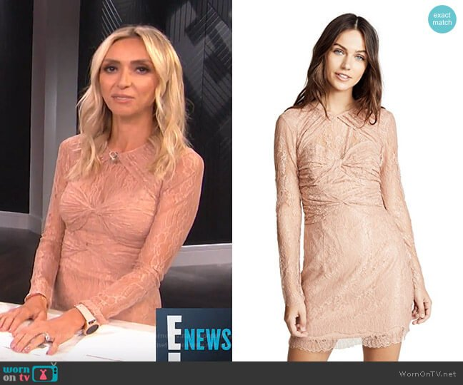 Not Your Girl Lace Dress by Alice McCall worn by Giuliana Rancic  on E! News