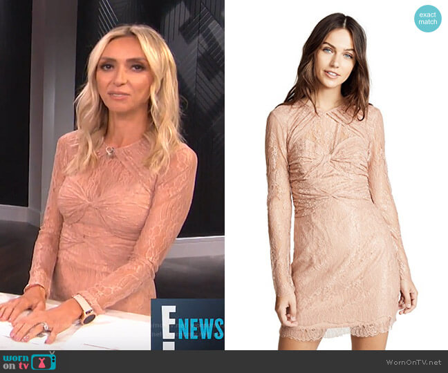 Not Your Girl Lace Dress by Alice McCall worn by Giuliana Rancic (Giuliana Rancic) on E! News