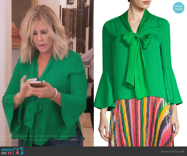 Merideth Blouse by Alice + Olivia worn by Vicki Gunvalson on The Real Housewives of Orange County