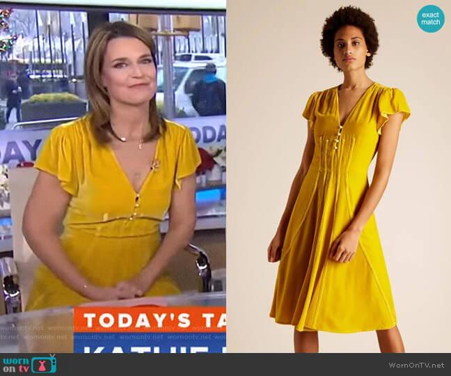 Camilla Velvet Dress by Altuzarra worn by Savannah Guthrie on Today