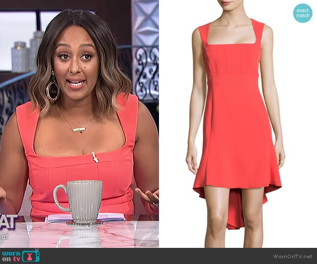 Hi-Lo Flounce Dress by Antonio Berardi worn by Tamera Mowry (Tamera Mowry) on The Real