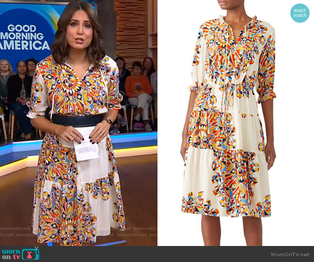 Arabella Dress by Tory Burch worn by Cecilia Vega  on Good Morning America
