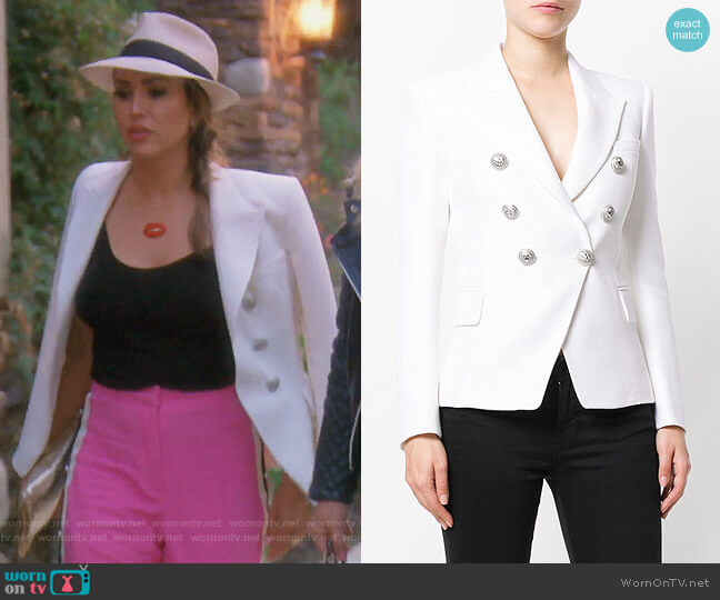 Double-Breasted Blazer by Balmain worn by Kelly Dodd  on The Real Housewives of Orange County