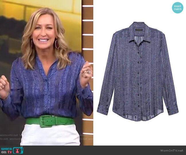 Dillon Shirt by Banana Republic worn by Lara Spencer (Lara Spencer) on Good Morning America