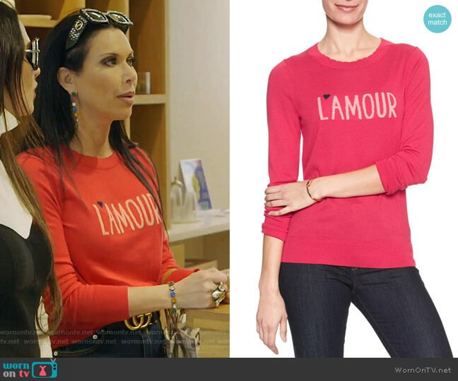 L'amour Sweater by Banana Republic worn by LeeAnne Locken  on The Real Housewives of Dallas