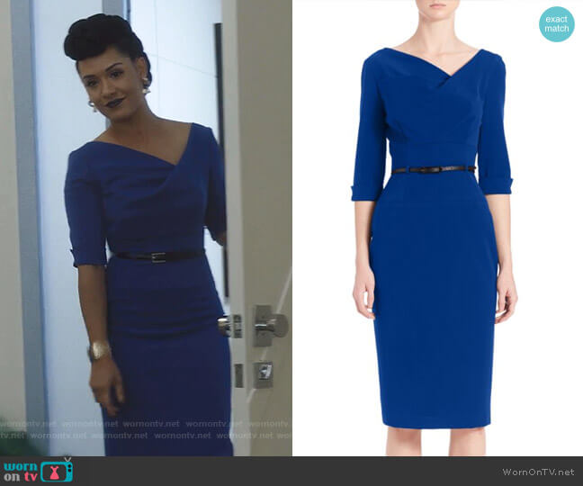Jackie O Dress by Black Halo worn by Reeva Payge (Grace Byers) on The Gifted