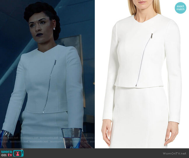 Juleama JAcket by Boss worn by Reeva Payge (Grace Byers) on The Gifted
